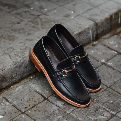 703 Horsebit Loafer MattBlack x Ribbon