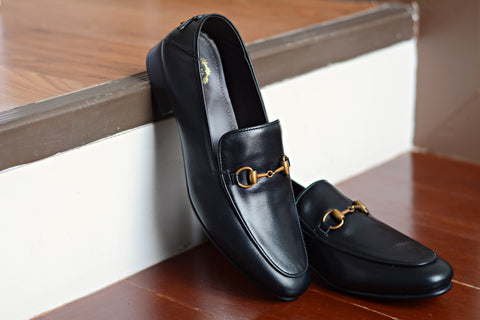 702 2n1 Horsebit Black Loafer Embroidery