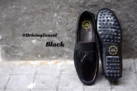 801 Driving Tassel Loafer Black