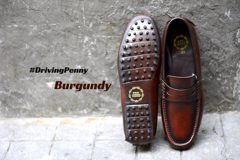 803 Driving Penny Loafer Burgundy