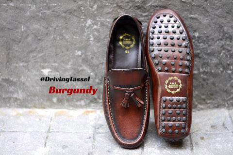 802 Driving Tassel Loafer Burgundy