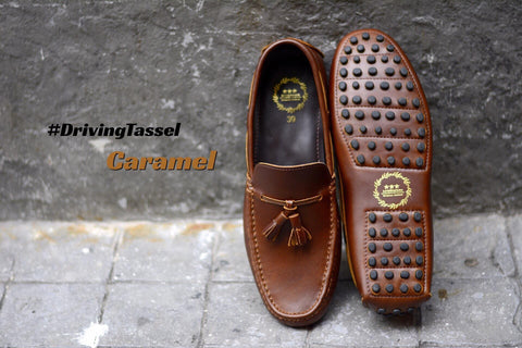 823-2 Driving Loafer Caramel Tassel