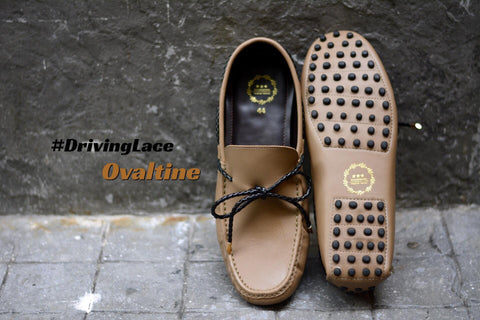 801 Driving Loafer Ovaltine with Plait Lace
