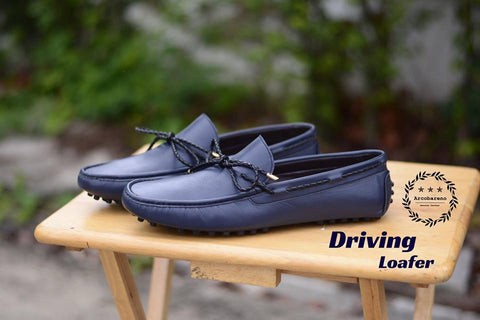 801 Driving Loafer DeepBlue with Plait Lace