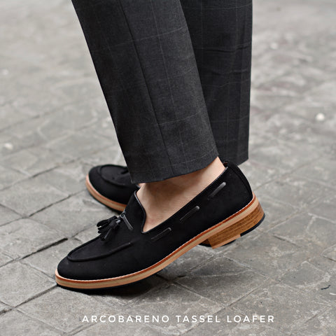 503 Tassel Loafer Suede Lamb Black