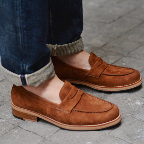 509 Penny Loafer Suede Lamb Whisky