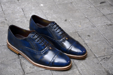 507-1 Brogue Shoe Blue