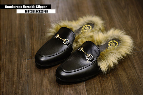 🇮🇹🇮🇹 New Arcobareno HorseBit Slipper MattBlack Fur