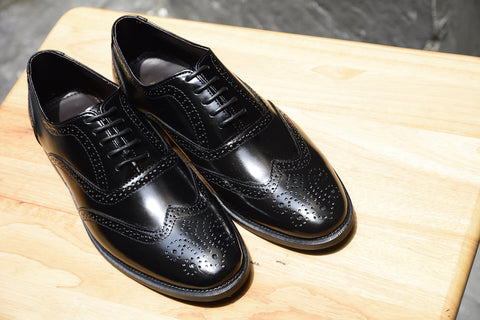 507 Brogue Shoe Lotus Black