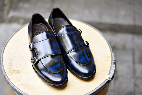 504 Double Monk Strap Blue