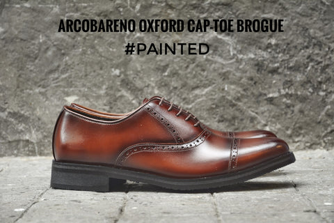 507-1 Brogue Shoe Burgundy Painted