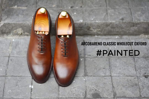 502-3 Oxford Wholecut Tanned Painted