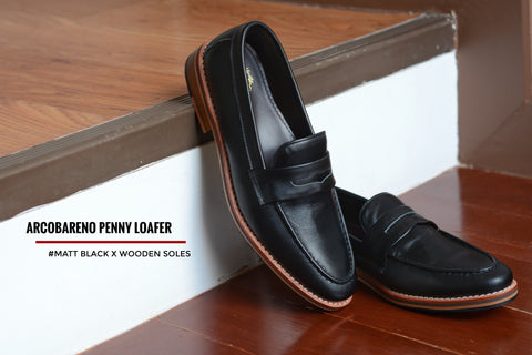 509 Penny Loafer Matt Black x Wooden Sole