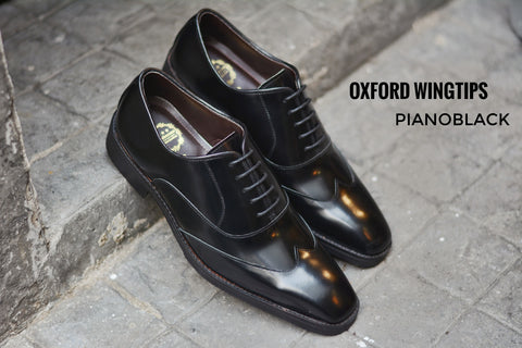 502-1 New Oxford Shoe Wingtip Black