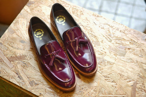 503 Purple Tassel Loafer Wooden Soles