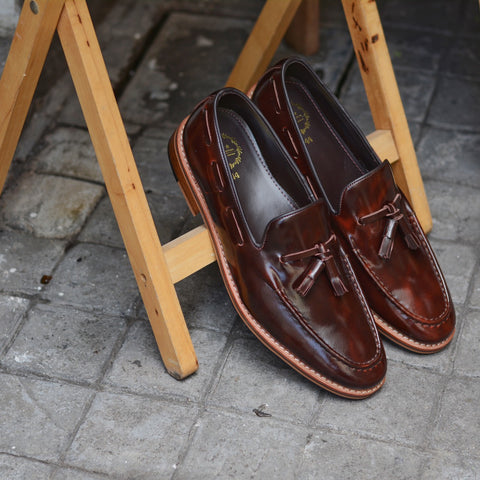 503 Tassel Lace Loafer Burgundy - Wooden Soles