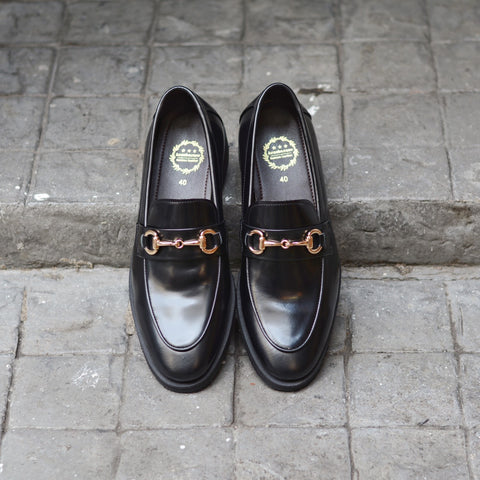 702 Horsebit Loafer X Piano Black