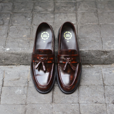 505 Tassel Loafer Strap Burgundy x Black Soles