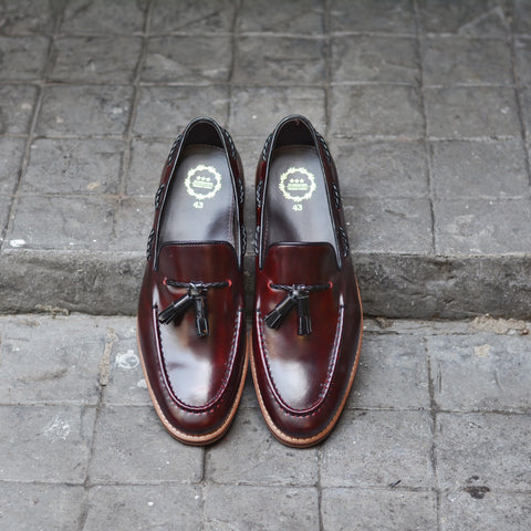 503 Tassel Loafer Cherry x Wooden Sole