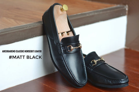 702-3 Arcobareno Classic Horsebit Loafer Matt Black