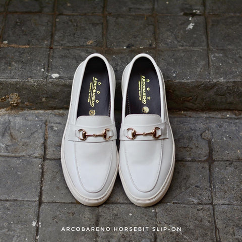 702 Arcobareno Horsebit Slip-On WinterWhite