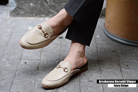 701 Slipper Horsebit Matt Beige