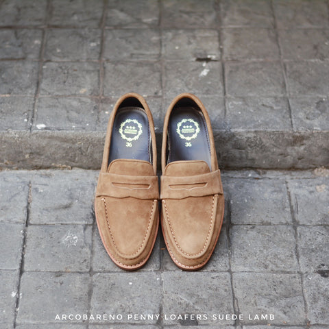 509 Penny Loafer X Suede Lamp Ivory Beige