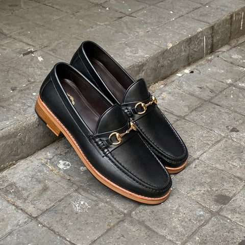 703 Horsebit Loafer MattBlack