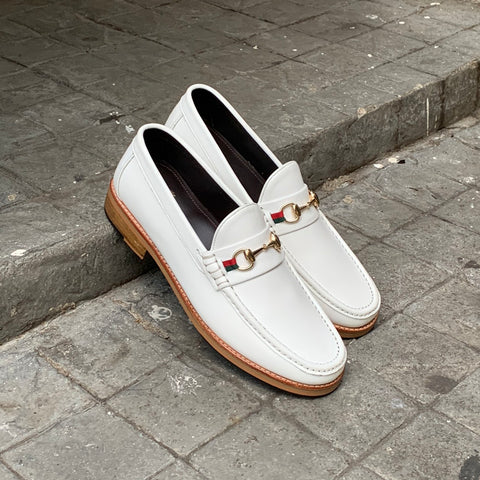 703 Horsebit Loafer WinterWhite x Ribbon
