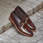 702 Horsebit Loafer Burgundy Wooden Soles