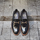 702 Horsebit Loafer PianoBlack Wooden Soles