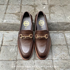 702 Horsebit Loafer Mocha Wooden Soles