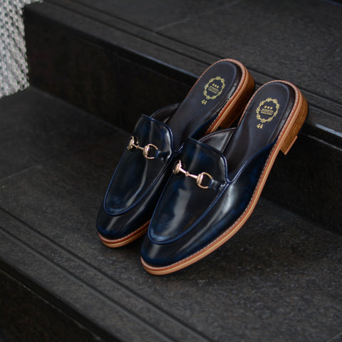 701 Horsebit Slipper ItalianBlue