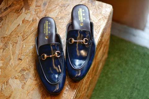 701 Slipper Horsebit Blue