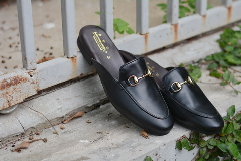 701 Slipper Horsebit Matt Black