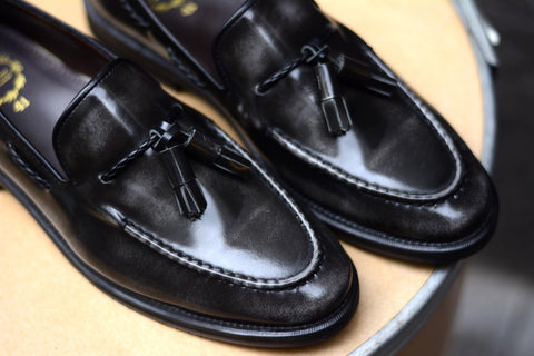 503 Tassel Loafer Dark Grey (Plait)