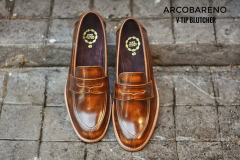V-Tip Blutcher Loafer Amber x Wooden
