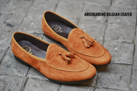 Tassel Suede Lamb Whisky Belgian Loafers