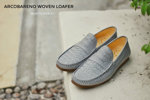Winter Gray Penny Woven Loafer