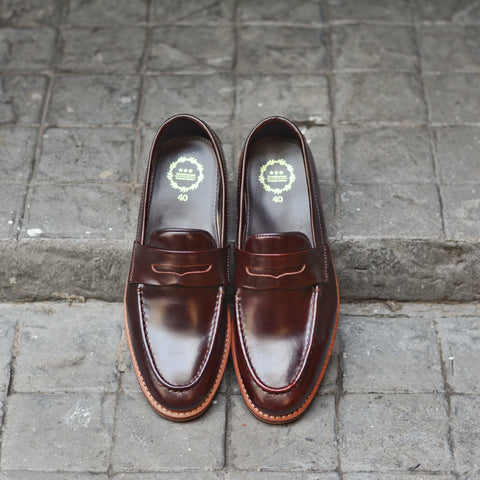 509 Penny Loafer Burgundy - Wooden Sole