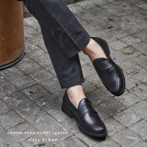 FT 509 Full Strap Penny Loafer Black