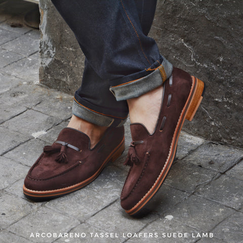 503 Tassel Loafer Suede Lamb DarkBrown