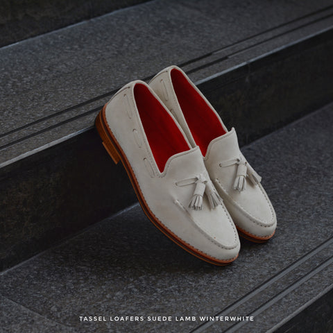 503 Tassel Loafer X Suede Lamp WinterWhite