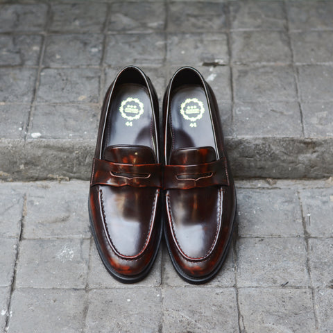 509 Penny Loafer Burgundy - Black Rubber Sole