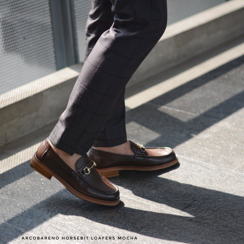 703 Horsebit Loafer Mocha Patina Paint