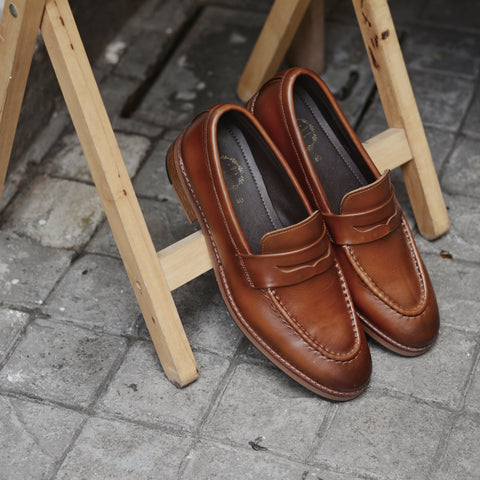 509 Penny Loafer Painted Whisky