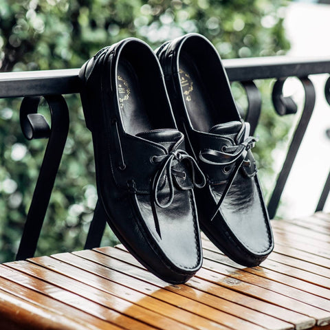 825 Boat Shoe - Matt Black