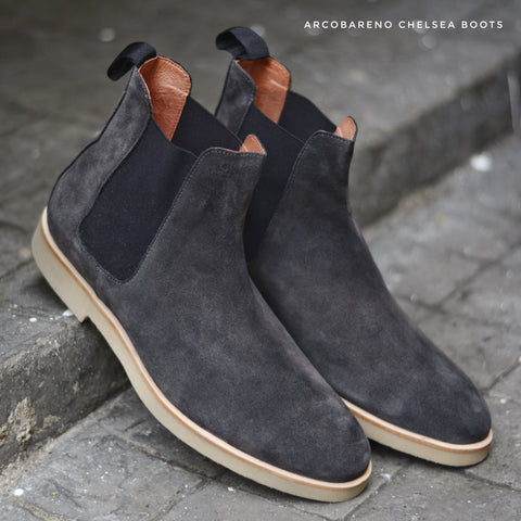 Chelsea Boots Suede Lamb SpaceGray