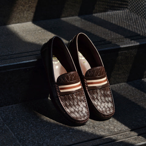 W823 Penny Woven Loafer Ribbon