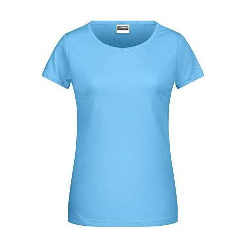 Damen T-Shirt klassisch Basic - türkis Sky-Blue